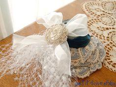 チュール / 髪飾り  / ヘッドドレス / パール / ウェディング / 結婚式 / wedding / オリジナルウェディング / プティラブーシュカ / トキメクウェディング