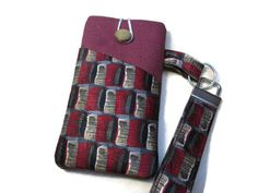 Silk phone and lanyard set fabric iPod case xperia wallet