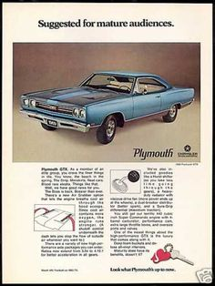 Plymouth GTX 440 Car Photo Print Vintage Car (1969)