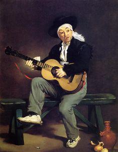 "Edouard Manet: ""The Spanish Singer"", 1860."