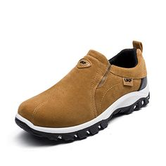 04c1da0eeca Men Hiking Suede Breathable Slip Resistant Slip On Outdoor Sneakers Mens  Fashion Casual Shoes