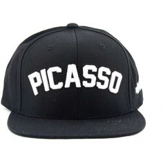 Bbp Jay-Z Picasso Snapback ($64) ❤ liked on Polyvore featuring men's fashion, men's accessories, men's hats, mens caps and hats, embroidered caps, cap snapback, mens snapback hats and snap back cap