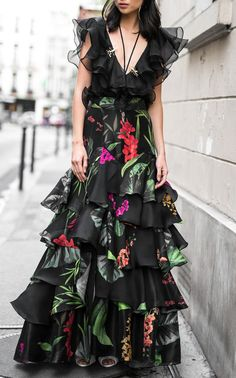 Johanna Ortiz Puerto Asis Silk Organza Skirt