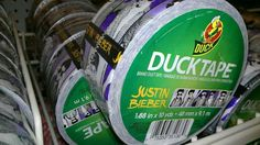 This Justin Bieber Duck Tape. | 22 Products The World Never Asked For