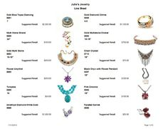 Jewelry Making Software With Line Sheet To Help You Sell Jewelry. You Have  The Option