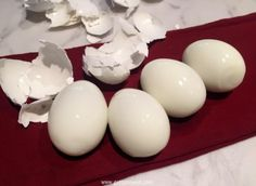 peeled smooth eggs
