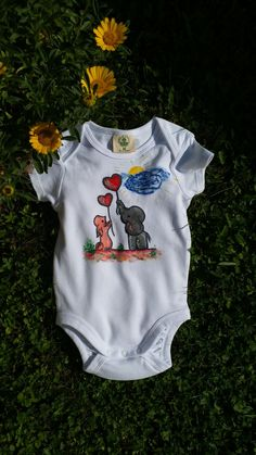 body handgemalt, madchen, malovanr body, dievca Onesies, Kids, Baby, Clothes, Fashion, Moda, Clothing Apparel, For Kids, Babies
