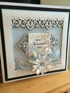 Pretty card made with me Sue Wilson dies. Wedding Card Design, Wedding Cards, Sue Wilson Dies, Paper Flower Tutorial, Pretty Cards, Creative Cards, Paper Flowers, Paper Crafts, Card Crafts