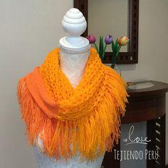 Paso a paso: bufanda tejida en dos agujas o palitos con dos puntadas y colores de lana diferentes!