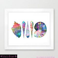 COQUILLAGE amour - j'ai Art Print, plage, océan de SchatziBrown