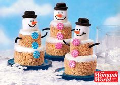 Have some delicious snow-day fun with this cute snowmen craft you can find in our February issue of Woman's World!