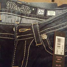 "Miss Me Jeans NWT Signature Boot Cut, Dark Blue, Inseam 34"" Miss Me Jeans Boot Cut"