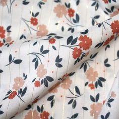Viscose rayures fleurs Minimel x Batikou