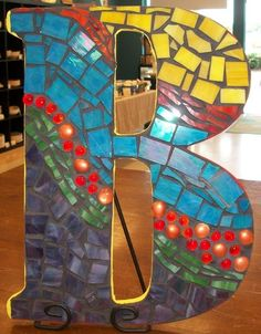 Colorful Mosaic Letters for Baby's Room