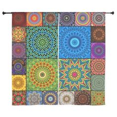 24 Mandalas Curtains by Lyle Hatch Photography and Digital Art - CafePress Quilted Curtains, Curtain Designs, Digital Art, Quilts, Blanket, Rugs, Photography, Color, Home Decor
