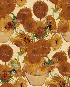 Van Gogh Vase with Fifteen Sunflowers by Spoonflower