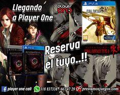 siguenos: playeronecolombia.com prestamosjuegos.com playerone.com.co Instagram: Playeronecolombia Whatsapp: 318 837 3338 - 667 4729
