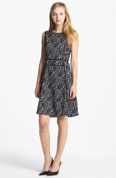 Vince Camuto Floral Lace Print A-Line Dress available at #Nordstrom