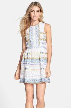 BCBG 'Cecile' Cotton Blend Fit & Flare Dress | Nordstrom