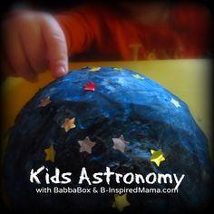 Kids Astronomy - A Moonlight Night Light Craft from BabbaBox - B-InspiredMama.com