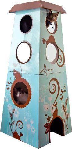 The Refined Feline Catemporary Cat Castle
