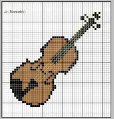 Cross Stitch Music, Mini Cross Stitch, Cross Stitch Cards, Cross Stitch Embroidery, Knitting Charts, Knitting Patterns, Cross Stitch Designs, Cross Stitch Patterns, Pixel Art