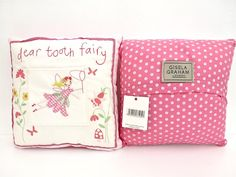 Celebrations & Occasions Other Celebrations & Occasions Gisela Graham White and Pink Girls Tooth Fairy Fabric Felt Envelope Keepsake