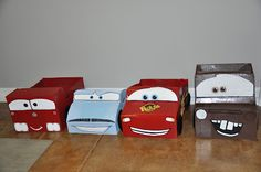 Car boxes, Visit website for template of box cut out.  Then paint and have your kids race around!  http://www.flickr.com/photos/mrmcgroovys/3001780545/