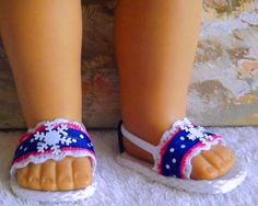 American Girl Doll Clothes Shoes Sandals Anna by sewgrandmacathy