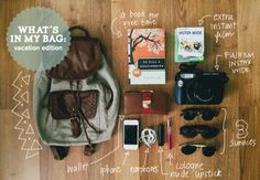 """camiejuan: """"What's In My Bag: Vacation Edition I went on a short vacation right after Christmas last December with Gab and my family at Subic. I was on holiday break so I left behind anything school related at home and brought along my vacation..."""