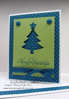 Stamping to Share: 10/15 Stampin' Up! Festival of Prints Christmas Card with How To Video