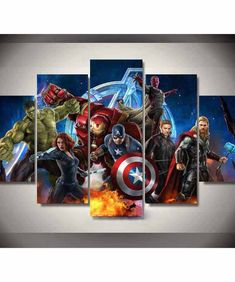 Painting Wall Art Modular Framework HD Modern Printed 5 Panel Movie Avengers Poster For Living Room Pictures Canvas Home Decor 5 Piece Canvas Art, Canvas Art Prints, Canvas Wall Art, Modern Art Prints, Modern Wall Art, Avengers Painting, Marvel Canvas, Avengers Poster, Panel Wall Art