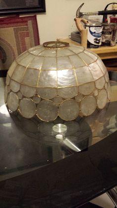 Item ls003small capiz shell lamp shade5 34h x 10d2300 item ls004large capiz shell lamp shade7 12 mozeypictures Images