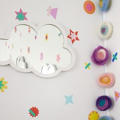 Your walls are ready for a party, and our confetti decals are just what they need. With various shapes, colors and sizes, there are more than enough of these decals to let your walls go wild. Kids Mirrors, Girls Mirror, Diy Mirror, Wall Mirror, Girl Bedroom Walls, Bedroom Ideas, Confetti Wall, Little Girl Rooms, Kid Spaces