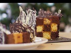 Pour #Noel on revisite la bûche de Noël en damier au chocolat et caramel beurre salé façon Cyril Lignac ;)