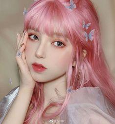 Uzzlang Girl, Girl Face, Cute Korean Girl, Asian Girl, Kpop Hair Color, Girl Hair Colors, Aesthetic Hair, Blue Hair, How To Look Pretty