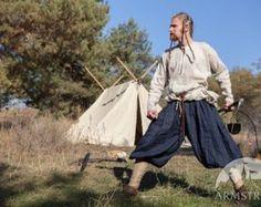 Mannen klassieke broek Linnen broek Middeleeuwse door armstreet