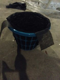 laundry basket planter