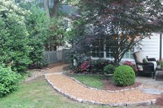 nice patio area with landscaping