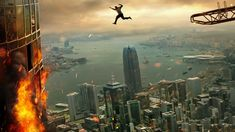 """Watch Skyscraper Full""""Movies Framed and on the run, a former FBI agent must save his family from a blazing fire in the world's tallest building. Best Action Movies, Good Movies To Watch, Watch Free Movies Online, All Movies, Latest Movies, Action Film, Dwayne Johnson, Pablo Schreiber, Top Tv"""