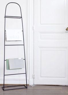 Accessoires de salle de bains accrocher objets d co - Echelle porte serviette bambou ...