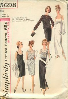 Simplicity 5698 Size 16 Bust 36