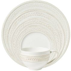 Juliska - 'Le Panier' Collection - 5-pc Place Setting, Whitewash (4 colors of chargers & multiple serving pieces available. Fabulous Collection!!!)