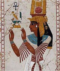 Nefertari also known as Nefertari Merytmut was one of the Great Royal Wives (or principal wives) of Ramesses the Great. Nefertari means 'Beautiful Companion' and Meritmut means 'Beloved of [the Goddess] Mut'. She is one of the best known Egyptian queens, next to Cleopatra, Nefertiti and Hatshepsut. Her lavishly decorated tomb, QV66, is the largest and most spectacular in the Valley of the Queens. Ramesses also constructed a temple for her at Abu Simbel next to his colossal monument here.