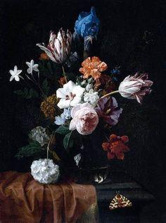 Nicolaes van Veerendael, Flower Still-Life, c. 1675-80