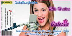 Violetta (Disney) theme invitation card. Tarjeta invitación tema Violetta (Disney) disponible en www.elsurdelcielo.com