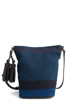BURBERRY 'Mini Ashby' Bucket Bag. #burberry #bags #shoulder bags #leather #bucket