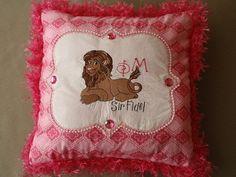 Phi Mu Sorority Crafts, Sir Fidel, pillows, pillowcases, Christmas stockings