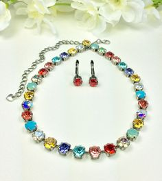 Swarovski Crystal Necklace  Designer Inspired  by CathieNilson