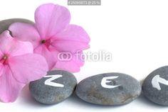 """""""ambiance galets et impatiens zen..."""" photo libre de droits sur la banque d'images Fotolia.com - Image 25069873"""